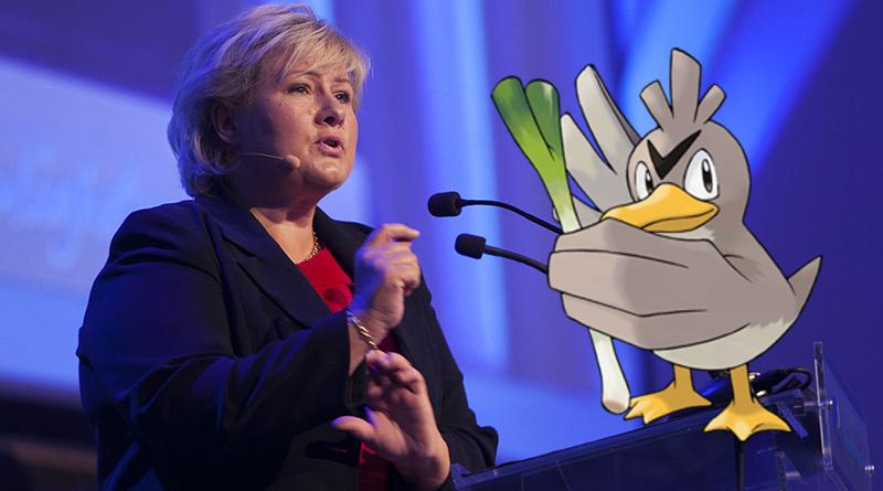 Erna Solberg samlet sjeldne Pokemon i Kina