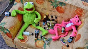 Frosken Kermit og Rosa Panteren