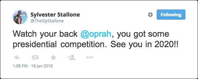 Sylvester Stallone Valg 2020